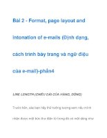 Bài 2 - Format, page layout and intonation of e-mails -phần 3 pptx