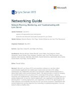 Network Planning, Monitoring, and Troubleshooting with Lync Server