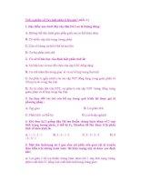Trắc nghiệm về Quy luật phân li Mendel ( phần 1 ) pdf