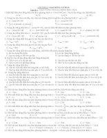bài tập trắc nghiệm chương 1