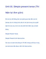 Unit 05. Simple present tense (Thì hiện tại đơn giản) pps