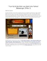 Trọn bộ bí kíp đỉnh cao dành cho Yahoo! Messenger (Phần 1) ppsx