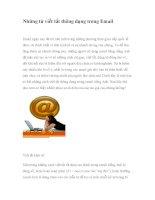 Những từ viết tắt thông dụng trong Email ppt