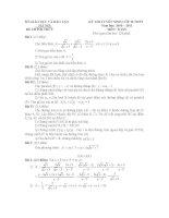 Gợi ý giải đề thi vào 10 môn toán - Hà Nội 2010