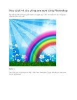 Học cách vẽ cầu vồng sau mưa bằng Photoshop pps