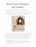 Bí quyết trang trí thật đẹp cho ngày lễ (Phần 1) ppsx