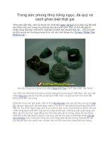Trang sức phong thủy bằng ngọc, đá quý và cách phân biệt thật giả pot