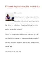 Possessive pronouns (Đại từ sở hữu) doc