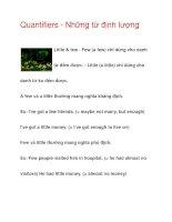 Quantifiers - Những từ định lượng Little & few pptx