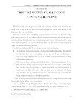 Chương 6: Thiết kế đường và mặt cong Bezier và B - spline pptx