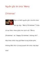 "Nguồn gốc lời chúc ""Merry Christmas"" doc"