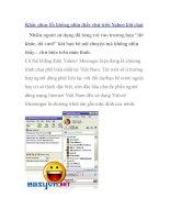 Khắc phục lỗi không nhìn thấy chữ trên Yahoo khi chat ppsx