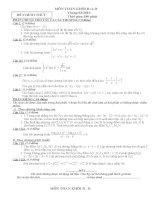 Tuyển tập đề thi thử môn toán 1