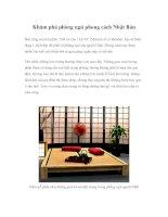 Khám phá phòng ngủ phong cách Nhật Bản potx
