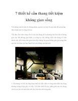 7 thiết kế cầu thang tiết kiệm không gian sống pdf