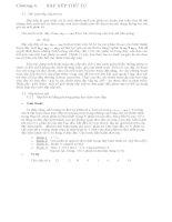 Chương 4. SẮP XẾP THỨ TỰ pptx