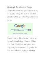6 thủ thuật tìm kiếm trên Google pptx