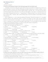 Đề tham luyện thi đại học môn Tiếng Anh - Đề số 31 ppsx