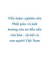 Tiểu luận: nghiên cứu Phật giáo và ảnh hưởng của nó đến nền văn hóa - xã hội và con người Việt Nam pps