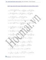 Bài tập nguyên hàm tích phân sử dụng công thức pot