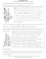 Ôn thi phần thể tích khối đa diện và mặt tròn xoay pps