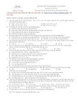 Đề thi thử môn hóa đề 14