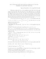 Một cách khai thác bài toán so sánh một số với các nghiệm của tam thức bậc hai pdf