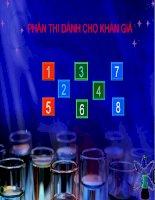 Báo cáo: Các hiện tượng hóa học vui pps