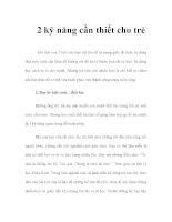 2 kỹ năng cần thiết cho trẻ pdf