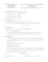 Đề & đáp án chi tiết TS l0 Khánh Hòa -2010-2011