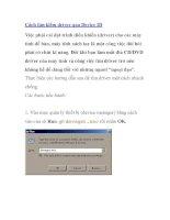 Cách tìm kiếm driver qua Device ID pptx