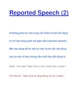 Reported Speech (2) pptx