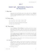 CAD, orCAD - Thí Nghiệm ĐIện Tử phần 9 pps