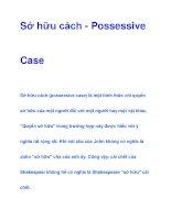Sở hữu cách - Possessive Case pdf