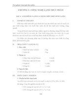 Giáo trình thí nghiệm công nghệ thực phẩm - Chương 5 - Bài 1 & 2 pptx