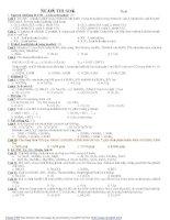 Đề thi thử hoá đại học năm 2009 - đề 4 pptx