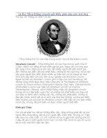 Lá thư Tổng thống Lincoln gởi thầy giáo dạy con trai ông