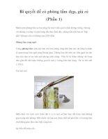 Bí quyết để có phòng tắm đẹp, giá rẻ (Phần 1) pptx