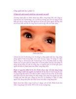 Công nghệ sinh học ( phần 3 ) Tế bào gốc phôi người và thị lực của người cao tuổi pot