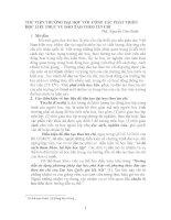 THƯ VIỆN TRƯỜNG đại học với  CÔNG tác PHÁT TRIỂN học LIỆU PHỤC vụ đào tạo THEO tín CHỈ
