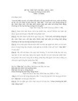 Đề và đáp án thi vào 10 môn Ngữ văn 2010 Hà Nôi