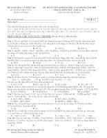 Đề thi thử đại học , cao đẳng môn Hóa học – Đề số 01 pps