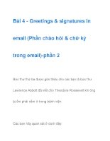 Bài 4 - Greetings & signatures in email-phần 2 pptx