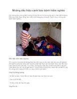 Những dấu hiệu cảnh báo bệnh hiểm nghèo pptx