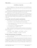 Giáo trình hóa sinh học - Chương 2 pptx
