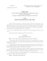Bộ luật ngân hàng nhà nước Việt Nam số 06/ 1997 ppt
