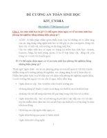 24 CÂU HỎI VÀ ĐÁP ÁN  AN TOÀN SINH HỌC