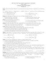 2 đề thi thử ĐH Môn Vật lý và đáp án  số 13+14