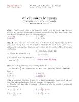 172 câu trắc nghiệm Vật lý chương mạch điện xoay chiều ppsx