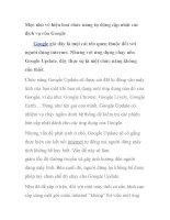 Mẹo nhỏ vô hiệu hoá chức năng tự động cập nhật các dịch vụ của Google pdf
